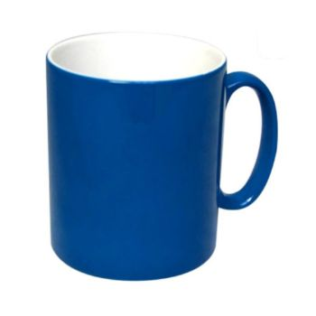 Personalised Matte Colour Change Mugs - Blue